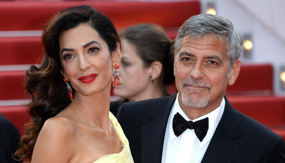 GODT GIFT: Amal og George Clooney giftet seg i 2013. Nå snakker han ut om forholdet til kona. Foto: Anthony Harvey/REX/NTB