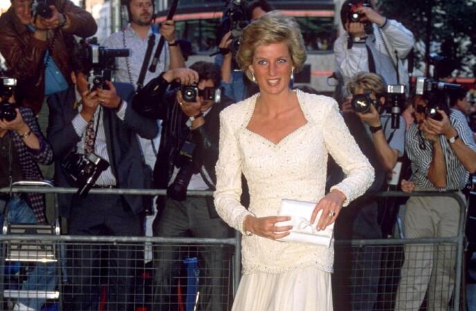 FAN: Diana var faktisk på hele to «Tilbake til fremtiden»-premierer. Her fotografert i 1990, da oppfølgeren kom ut. Foto: REX / NTB