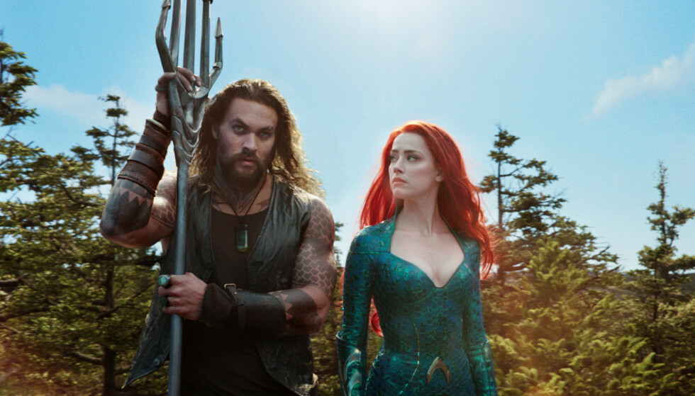STORFILM: Jason Momoa og Amber Heard sammen i «Aquaman». Foto: Warner Bros/AP/Scanpix