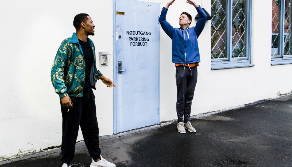 GODE VENNER: Selv om de har måttet opprettholde avstand i hele høst, har de to finalistene blitt gode venner. Foto: Lars Eivind Bones / Dagbladet