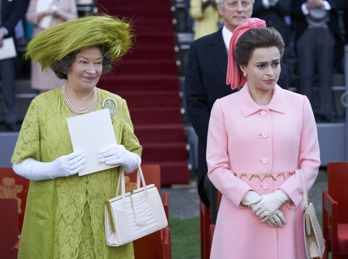 MOTHER AND DAUGHTER: In episode seven of the series, Princess Margaret is seen accusing the Queen Mother of having hidden the Bowes-Lyon sister.  Photo: Des Willie / AP / NTB