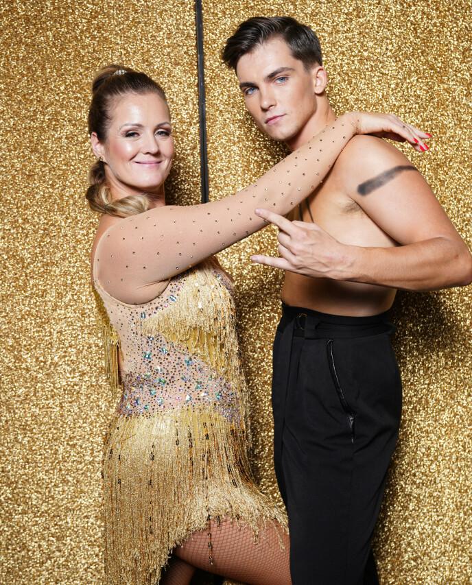 DANSEPARTNERE: Tarjei Svalastog var Siri Kristiansens dansepartner i årets sesong av TV 2-programmet. Foto: Espen Solli / TV 2