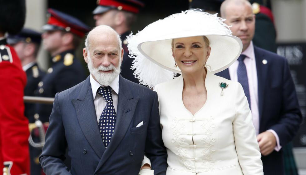 SMITTET: Prinsesse Michael av Kent fikk påvist coronavirus for tre uker siden. Her er hun med ektemannen prins Michael i 2016 - i anledning feiringen av dronning Elizabeths 90-årsdag. Foto: Shutterstock / Rex