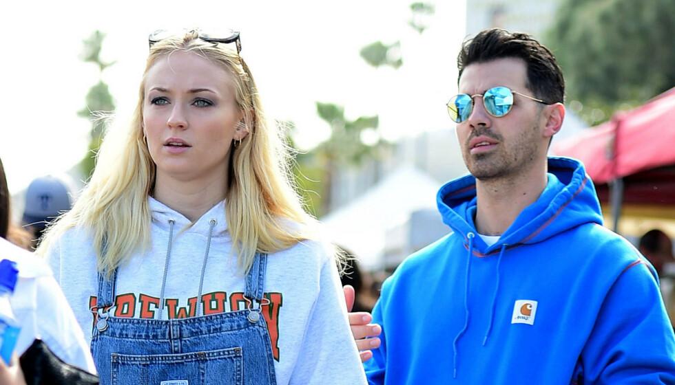 VIL UTVIDE FAMILIEN: Joe Jonas og Sophie Turner ble foreldre i sommer. Nå vil de visstnok utvide familien ytterligere. Foto: NTB