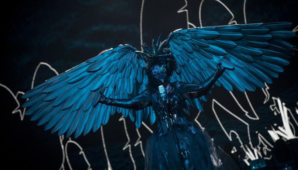 STERK: De vingene der holdes oppe av noen sterke armer. Foto: Julia Naglestad/NRK