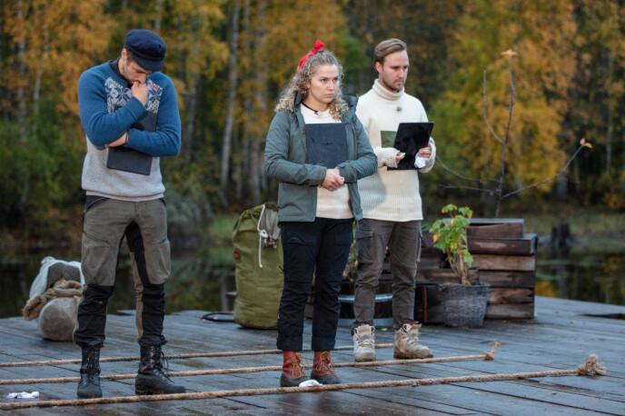 BAKPÅ: Etter å ha svart feil havnet Kjetil Kirk bakpå i den avgjørende konkurransen. Foto: Alex Iversen / TV 2