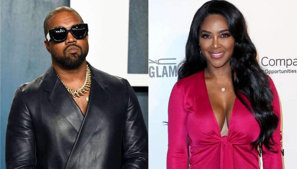 PÅ DATE: Kanye West og Kenya Moore er i dag godt gift på hver sin kant, men for noen år siden hadde de en liten mislykket flørt. Foto: Evan Agostini/Invision/AP/NTB og David Buchan/REX/NTB