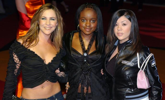2002: Heidi Range, Keisha Buchanan og Mutya Buena utgjorde Sugababes fra 2002. Her avbildet i London samme år. Foto: Stephen Hird/ Reuters/ NTB