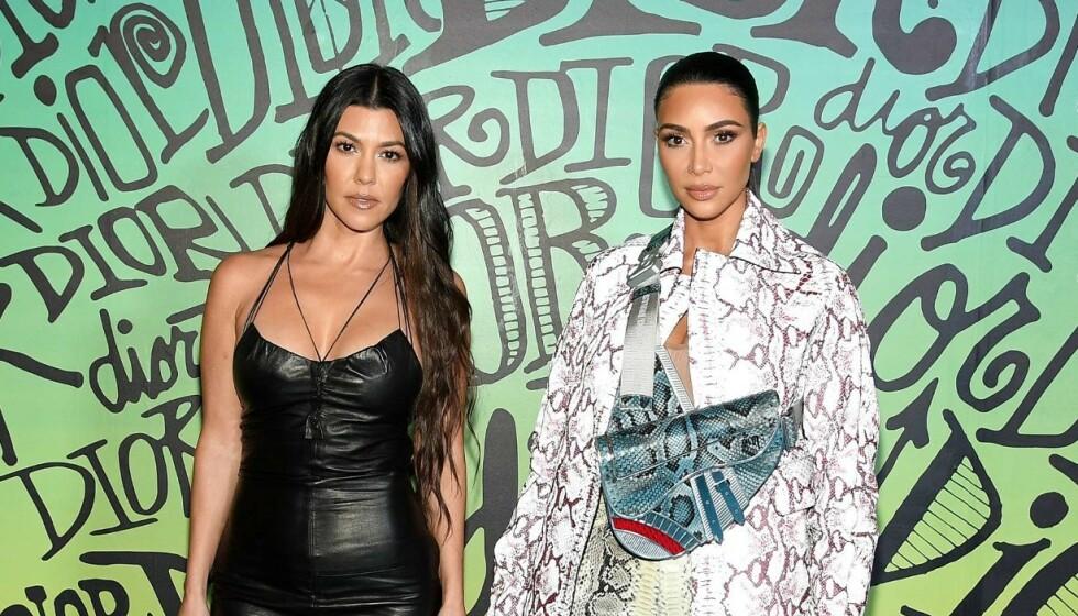 FILMSTJERNE: Kourtney Kardashian har kapret rolle i film. Her med lillesøster Kim Kardashian. Foto: NTB