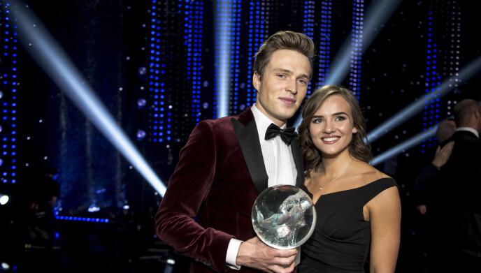 FRISK: I dag er Oda Djupvik friskmeldt. Her er paret i 2019. Foto: Carina Johansen / NTB Scanpix