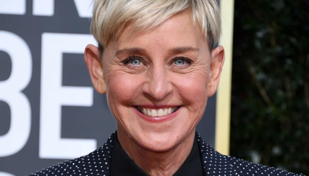 SMITTET: Ellen DeGeneres forteller at hun har fått corona. Foto: Valerie Macon/AFP/NTB