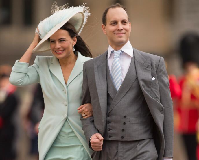 EKTEPAR: Sophie Winkleman og Lord Frederick Windsor har vært gift siden 2009 og har døtrene Maud (7) og Isabella (4) sammen. Her avbildet under prinsesse Eugenies bryllup i 2018. Foto: REX/NTB