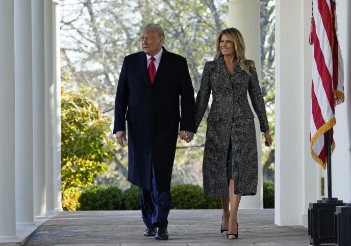 SNIPP, SNAPP, SNUTE: Om få uker er Trump-familien ute. Foto: Susan Walsh / AP/ NTB