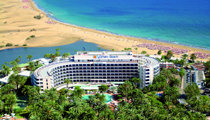 OASE: Helt nedtil stranda og det varme vannet ligger Seaside Palm Beach, som byr på de herligste spabehandlinger. Som nabo til Maspalomas' sanddyner byr hotellet på det beste fra to verdener.