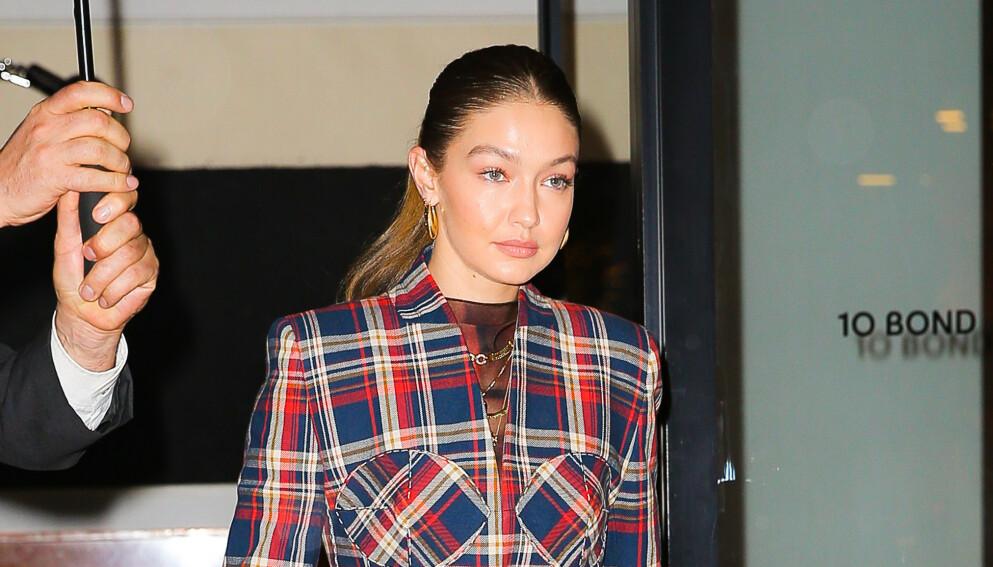 BLE MAMMA: Det er flere måneder siden supermodell Gigi Hadid ble mamma for første gang. Hva datteren heter har hun derimot valgt å holde for seg selv. Foto: Felipe Ramales / Splash News / NTB