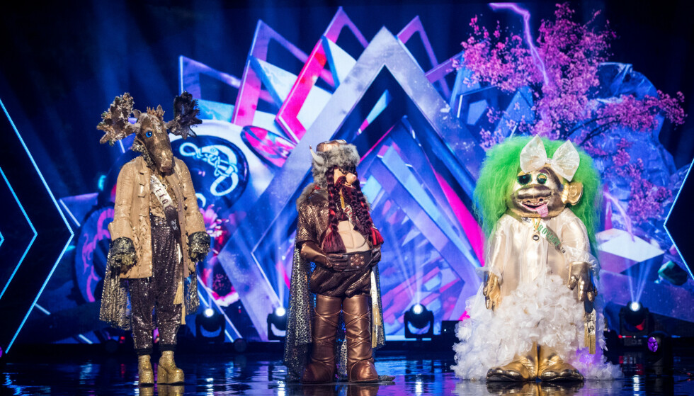 «MASKORAMA»: NRKs «Maskorama» ble en seerfavoritt på TV i fjor høst. Her er «Elgen», «Vikingen» og «Trollet» avbildet. Foto: NRK