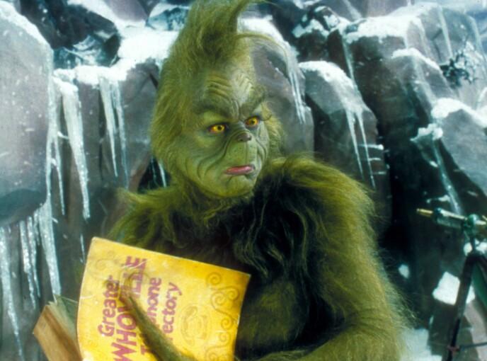 VANSKELIG KOSTYME: Jim Carrey har tidligere åpnet opp om utfordringene rundt «Grinchen»-kostymet. Foto: Moviestore / REX / NTB