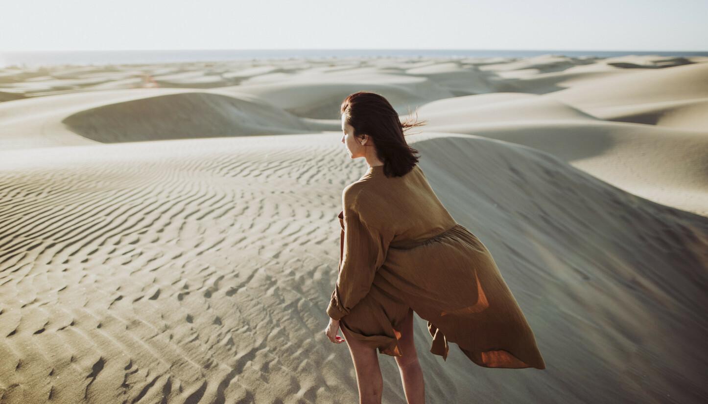 KROPP OG SJEL: Unn deg selv å oppdage alle mulighetene du finner på Gran Canaria i vinter. Gi kroppen din omsorg, se noe nytt - oppdag skjønnheten i den kanariske naturen. Få med deg solnedgangen over sanddynene i Maspalomas, for eksempel.