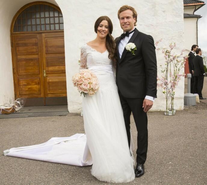 SKILTE SEG: Etter to års ekteskap valgte Marion Ravn og Andreas Ygre Wiig å gå hver til sitt. Her er de avbildet på bryllupsdagen, 25. mai 2013. Foto: Espen Solli