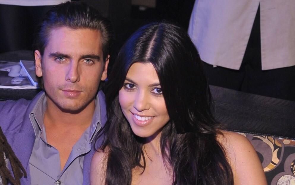 SAMMEN IGJEN?: Scott Disick får fansen på ryggen etter en tilsynelatende kjærlighetsfull tekst til Kourtney Kardashian på sin Instagram. Her er paret avbildet sammen i 2009. Foto: Hoo-Me/Mediapunch/REX/NTB