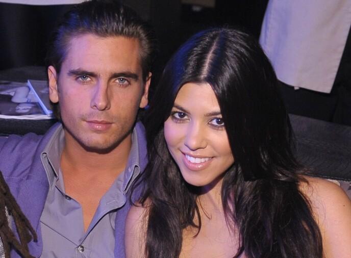 EKS-KJÆRESTER: Her er Scott Disick og Kourtney Kardashian avbildet sammen mens de fremdeles var et par i 2009. Foto: Hoo-Me/Mediapunch/REX/NTB