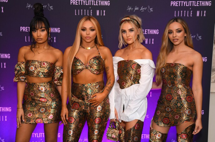 OVER OG UT: Jesy Nelson (nummer to fra venstre) ønsker ikke lenger å være en del av Little Mix. Foto: David Fisher / Shutterstock Editorial / NTB