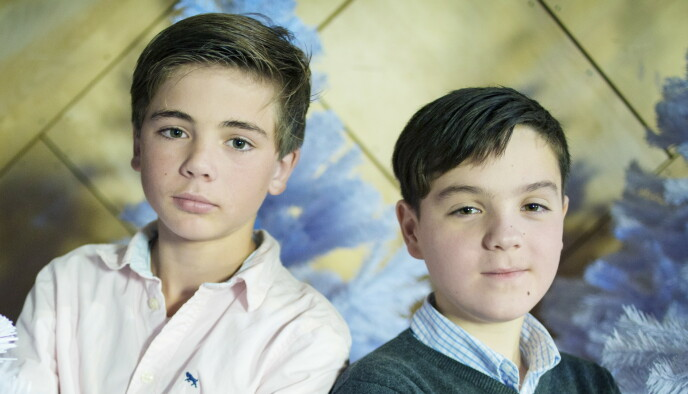 HOVEDROLLE: Oscar Reistad Fosse (t.v.) spilte sammen med seriens andre hovedrolleinnhaver, Vetle Qvenild Werring. Her er de avbildet i 2012. Foto: Kyrre Lien / NTB