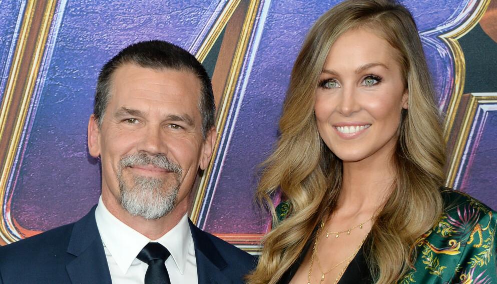 GODT GIFT: Her er Josh Brolin med kona Kathryn under filmpremieren av «Avengers: Endgame», hvor han har en av rollene, i Los Angeles i fjor vår. Foto: NTB