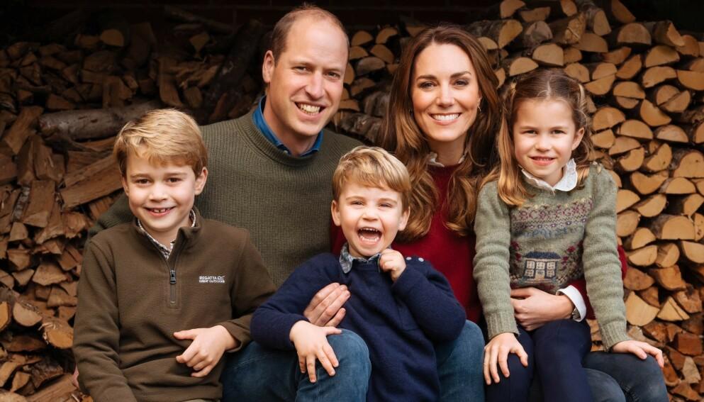 WOW: Hertugfamilien av Cambridge delte et nytt julebilde med følgerene sine nylig. Det vekker oppsikt av en helt spesiell grunn. Foto: Matt Porteous