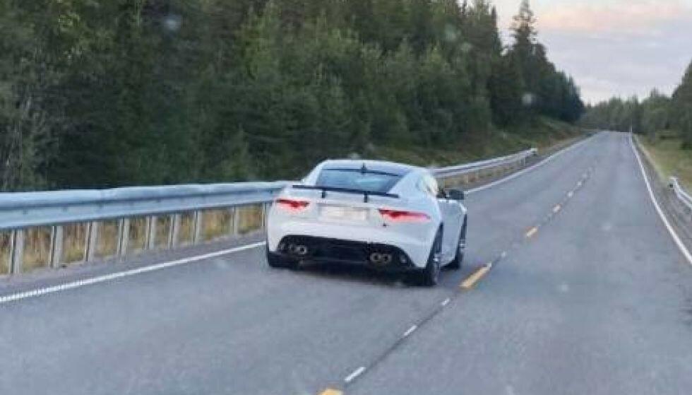BILEN: Dette er bilen Northug ble stoppet i.