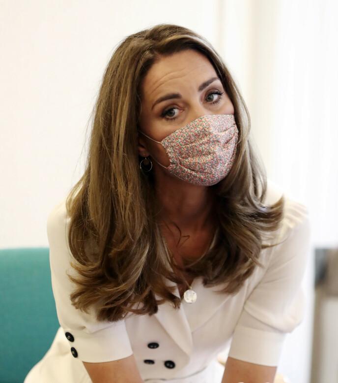 TRENDSETTER: Dette munnbindet ble et populært søk etter at det ble sett på hertuginnen.