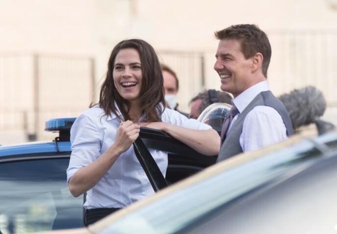 SØT MUSIKK?: Kilder hevder at Tom Cruise og Hayley Atwell har funnet tonen. Foto: Matteo Nardone / Shutterstock Editorial / NTB