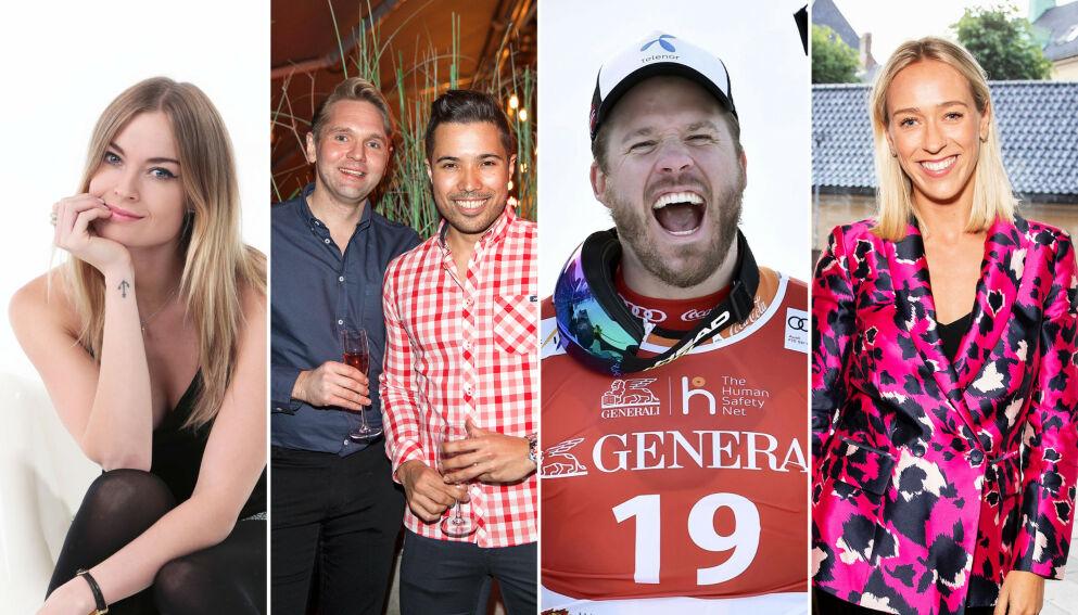 BLE FORELDRE: Charlotte Thorstvedt, Jens Christian Nørve, Kjetil Jansrud og Katarina Flatland var bare noen av kjendisene som fikk barn i løpet av 2020. Foto: NTB, Se og Hør