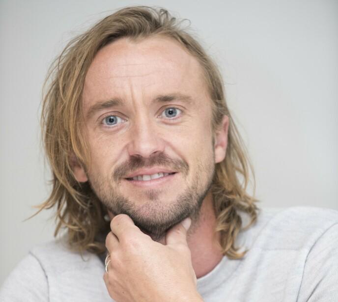 ULIK ROLLEN: Det er lite ved Tom Feltons utseende som i dag har likhetstrekk med karakteren Draco Malfoy. Foto: Magnus Sundholm/Action Press/REX/NTB