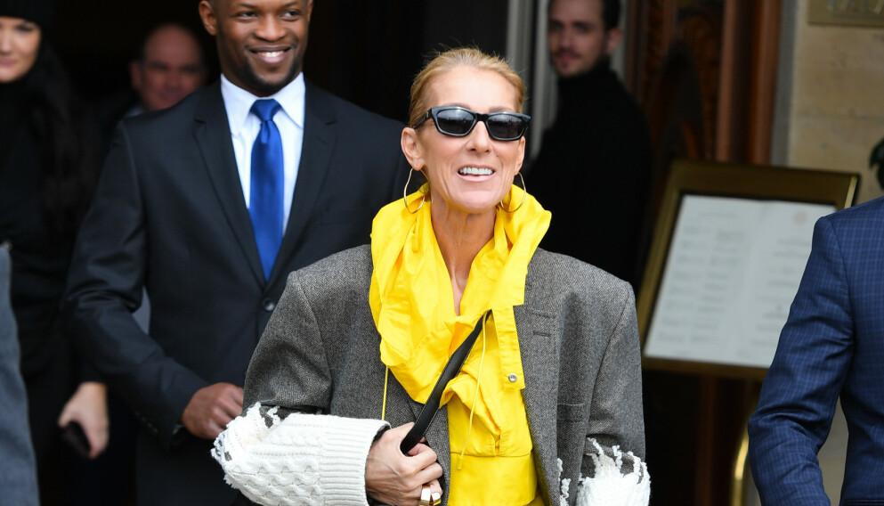 NYTT BILDE: På Instagram har Céline Dion delt et nytt bilde sammen med sine tre sønner. Her er hun i Paris i 2019. Foto: Cyril Pecquenard / REX / Shutterstock / NTB