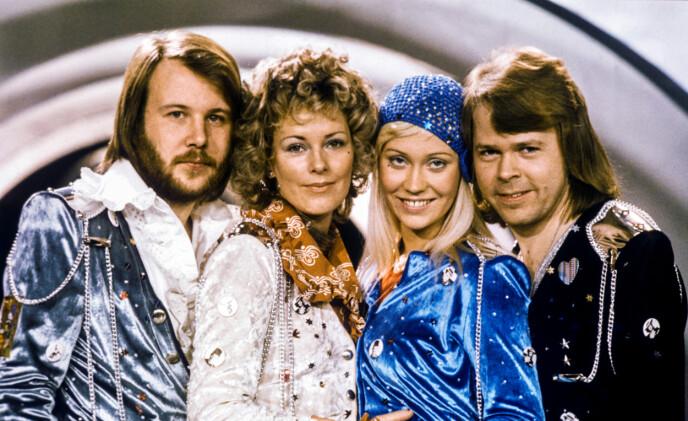 SUKSESS: ABBA er en av verdens mest suksessrike popgrupper, og har solgt millioner av album verden rundt. Her er gruppa fotografert i 1974. Foto: Olle Lindeborg / TT News Agency / REUTERS / NTB