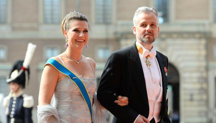 SKILT: Prinsesse Märtha Louise og Ari Behn giftet seg i 2002, men kunngjorde i 2016 at de skulle skilles. Her avbildet i 2015. Foto: Jonathan NACKSTRAND / AFP / NTB