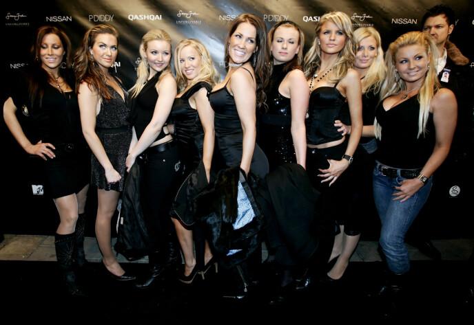 GJENG: I 2007 hadde Helene Rask (i midten) med seg en rekke modellvenner på nachspielet til P. Diddy på et utested i Oslo. Foto: Sara Johannessen / NTB