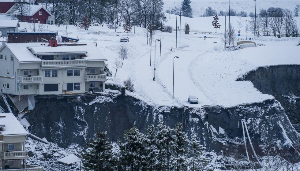 SKREDULYKKEN: Ødeleggelsene er enorme etter kvikkleireskredet i Ask i Gjerdrum natt til onsdag. Foto: Håkon Mosvold Larsen / NTB