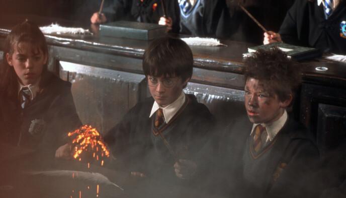 MED I ALLE FILMENE: Devon er med i alle de åtte filmene om Harry Potter og hans eventyr. Her fra den andre filmen, «Harry Potter og Mysteriekammeret» fra 2001. Foto: NTB