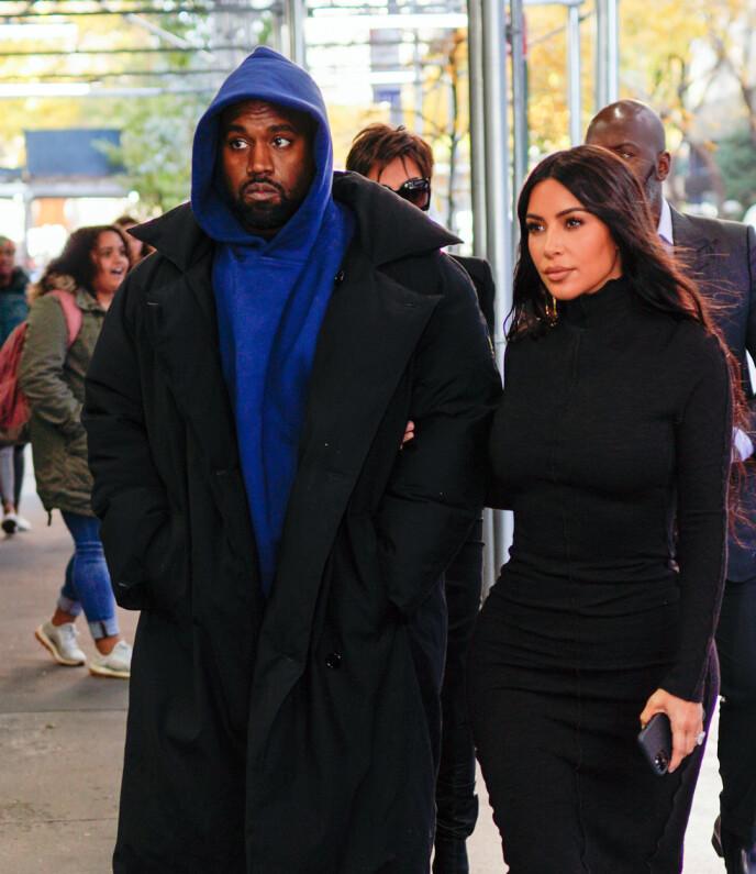 SKILSMISSE: Etter flere spekulasjoner kom nyheten om at Kanye West og Kim Kardashian skilles. Foto: Jackson Lee / Splash News / NTB