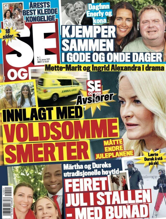 AVSLØRING: Du kan lese alt om kronprinsessens skiulykke i ukens utgave av Se og Hør. Foto: Faksimile fra Se og Hør