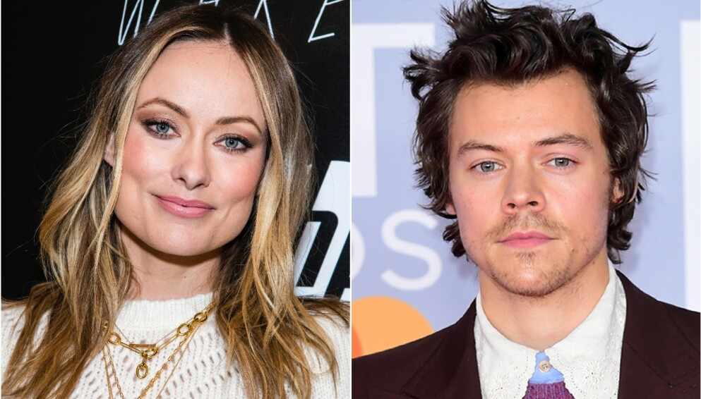 NYTT PAR? I høst har Olivia Wilde og Harry Styles spilt mann og kone i en ny film. Nå kan det virke som om de har funnet tonen også utenfor filmsettet. Foto: Charles Sykes/Invision/AP/Pa Photos/Ian West/NTB