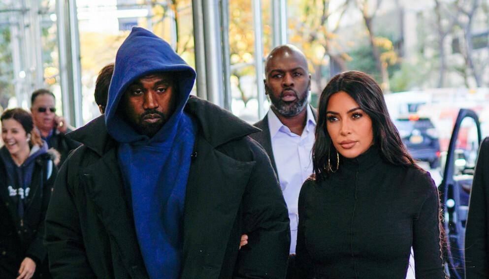 SKILLES?: Ifølge flere kilder skal det gå mot skilsmisse for Kanye West og Kim Kardashian. Foto: Splash News / NTB