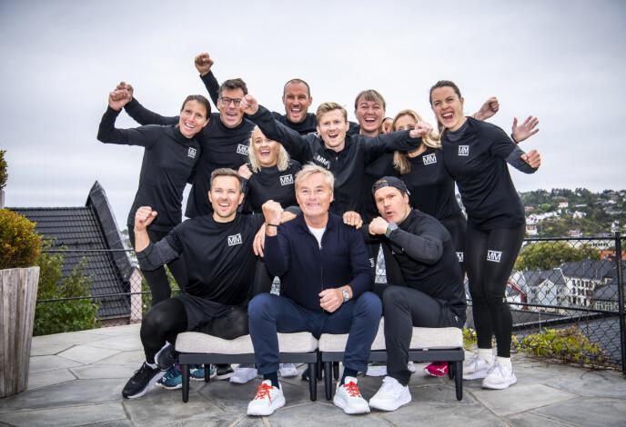 NY SESONG: Årets «Mesternes mester»-gjeng, sammen med programleder Dag Erik Pedersen, avbildet under innspillingen i Arendal i fjor høst. Foto: Lars Eivind Bones / Dagbladet