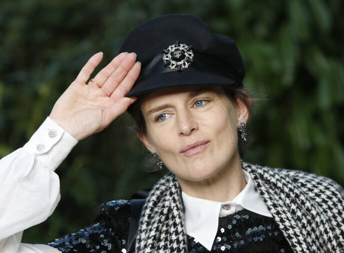 In 2018: Stella Tennant is presented in front of a Chanel show in Paris, in January 2018. Photo: Christophe Ena / AP / NTB
