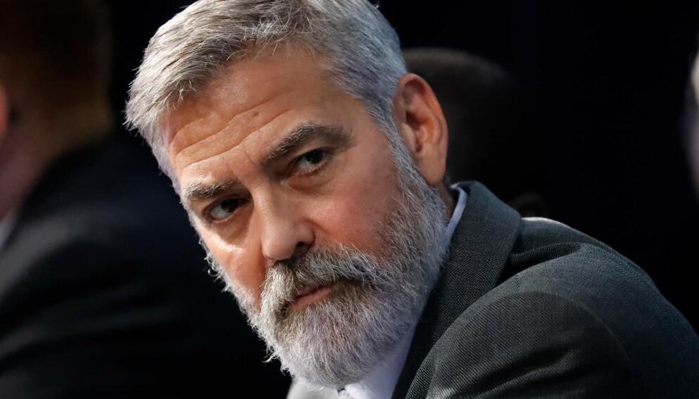 VERBAL UPPERCUT: George Clooney legger ingenting i mellom når han uttaler seg om Kongressen-opprøret og Trumps påvirkning. Foto: Tolga Akmen/AFP/NTB