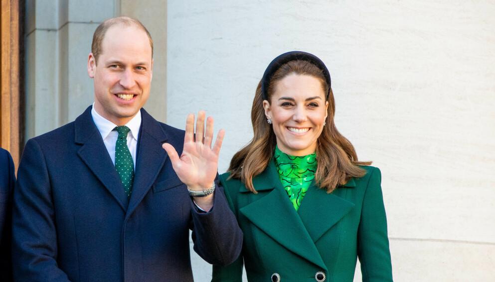 GLADLAKS: Hertuginne Kate har all grunn til å smile - hun fylte nemlig 39 år 9. januar. Her med prins William fra en tidligere anledning. Foto: Splash News / NTB