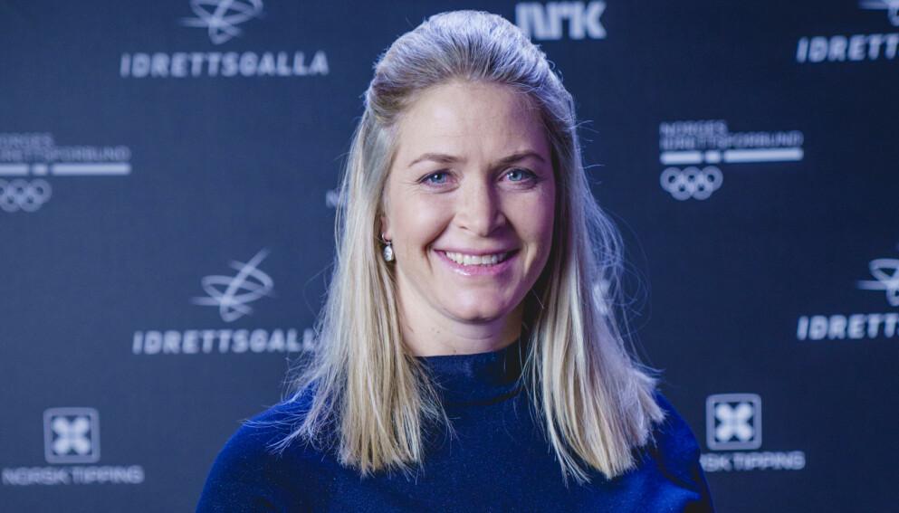 GRAVIDNYHET: Suzann Pettersen før Idrettsgallaen 2021 i Oslo. Foto: Stian Lysberg Solum / NTB