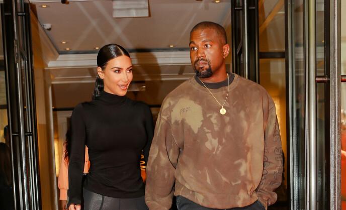 STREVER: Kim og Kanye holder seg unna hverandre fordi de ønsker å beskytte sine felles barn. Foto: Felipe Ramales / SplashNews.com / NTB